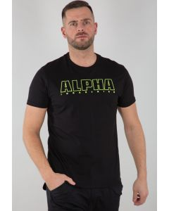 T-Shirt ALPHA INDUSTRIES Embroidery Heavy T Black