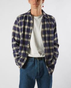 Hemd PORTUGUESE FLANNEL Blue Square Shirt