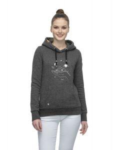 Kapuzensweater RAGWEAR Berit Print Black