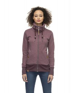 Sweatjacke RAGWEAR Rylie Zip Wine Red