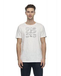 T-Shirt RAGWEAR Paul Organic White