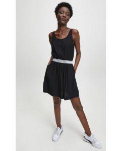 Ausgestelltes Kleid mit LOGO-Besatz CALVIN KLEIN