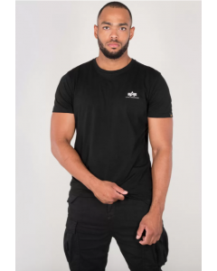 T-Shirt ALPHA INDUSTRIES Basic T Small Logo Black