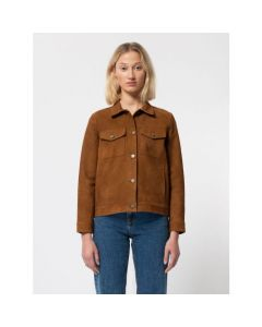 Lederjacke NUDIE JEANS Bettina Nubuck Camel