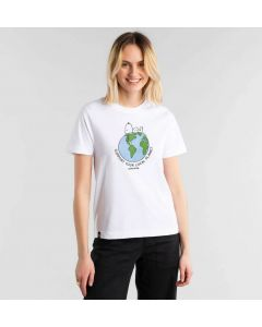 T-Shirt DEDICATED Mysen Snoopy Earth White
