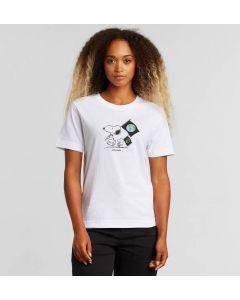 T-Shirt DEDICATED Mysen Snoopy Flag White