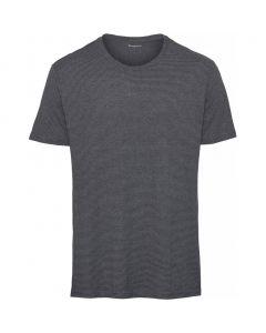 T-Shirt KNOWLEDGE COTTON Alder Striped Hemp Total Eclipse