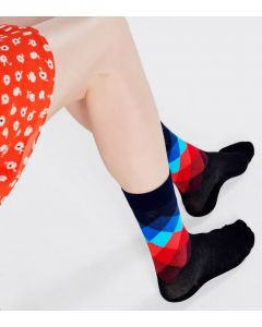 Socken HAPPY SOCKS Faded Diamond Sock