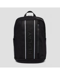 Denim/Nylon Rucksack REPLAY Black