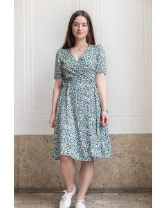Kleid GIVN Vanessa Blue Green Flowers
