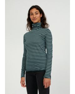 Longsleeve -Shirt ARMEDANGELS Malenaa Stripes Deep Lake-Soft Moss