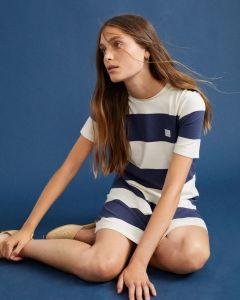 Kleid THINKING MU Navy Striped