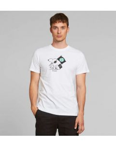 T-Shirt DEDICATED Stockholm Snoopy Flags White