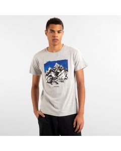 T-Shirt DEDICATED Drawn Mountain Grey Melange