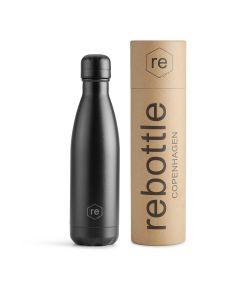 Trinkflasche REBOTTLE COPENHAGEN 500ml Black