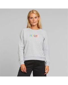 Sweater DEDICATED Ystad Raglan Peanuts Logo Grey Melange