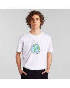 T-Shirt DEDICATED Stockholm Snoopy Earth White