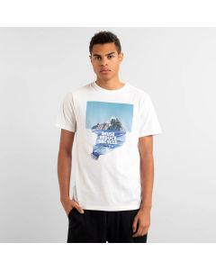 T-Shirt DEDICATED Stockholm Recycle Mountain White