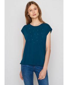 T-Shirt GREENBOMB Plants Summer Vibes Sailor Blue