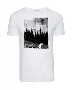 T-Shirt GREENBOMB Nature World Champion White