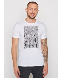 T-Shirt GREENBOMB Nature Forest Peep White