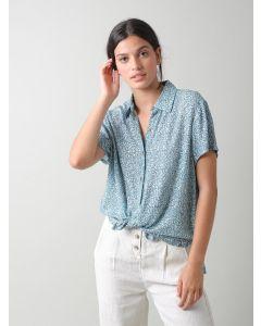 Bluse INDI & COLD Daisy Shirt Mini Floral Print Agua