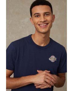 T-Shirt KINGS OF INDIGO Darius Navy Koinobori Badge