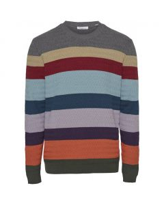 Pullover KNOWLEDGE COTTON Field Multi Striped