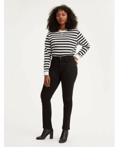 Jeans LEVI'S 724 High Rise Straight Blacksheep
