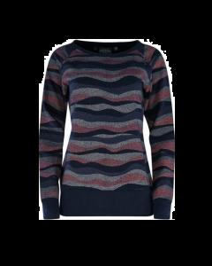 Sweater MAZINE Sherry Navy Waves
