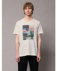 T-Shirt NUDIE JEANS Roy Someplace Collage Chalkwhite