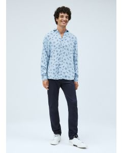 Chinohose  PEPE JEANS James Knit DK Ocean