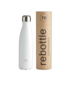 Trinkflasche REBOTTLE COPENHAGEN 500ml White