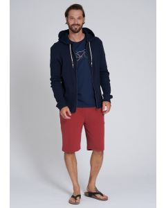 Hoodie RECOLUTION Waffle Navy