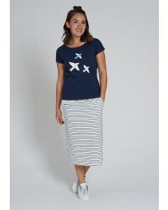 T-Shirt RECOLUTION Birds Navy