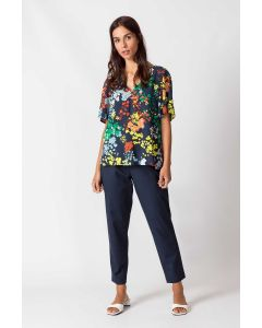 Bluse SKUNKFUNK Leintz Liberty Multicolor
