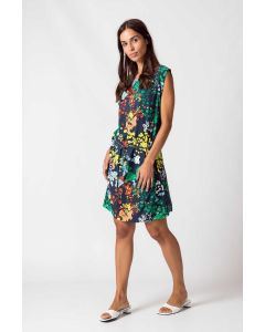 Kleid SKUNKFUNK Adei Liberty Multicolor