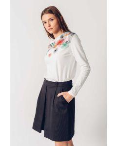 Longsleeve Shirt SKUNKFUNK Izei White