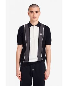 Strickhemd FRED PERRY Black