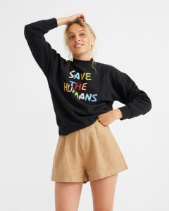 Sweater THINKING MU Save the Humans Black