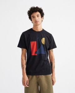 T-Shirt THINKING MU Abstract Black