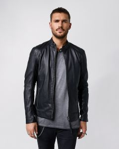 Lederjacke TIGHA Denzel Black