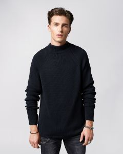 Rollkragenpullover TIGHA Ruffy Black