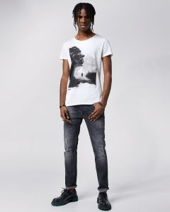 T-Shirt TIGHA Easy Rider Wren White