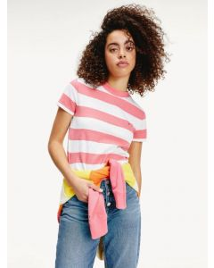 T-Shirt TOMMY HILFIGER Glamour Pink / White