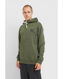 Kapuzensweater WOODWOOD Ian Hoodie Army Green