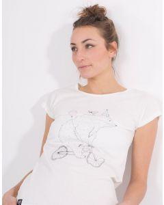 T-Shirt ZERUM Bär am Rad White