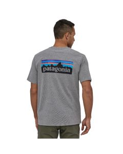T-Shirt PATAGONIA P-6 Logo Responsibili-Tee Gravel Heather