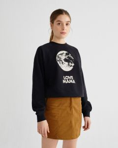 Sweatshirt THINKING MU Love Mama Black